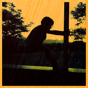 Child of the Rain by Gareth  Evans - Instagram & Mobile iPhone ( child rain outdoors summer fun iphone )