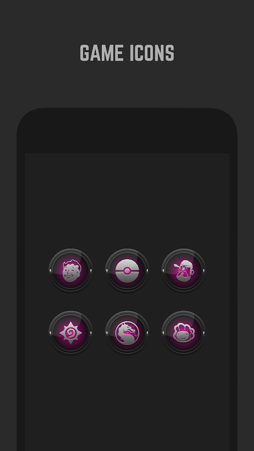 Black and Pink Icon Pack Screenshot 4
