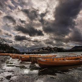 Derwent Water, Lake District by Aiden Ogden - Landscapes Waterscapes ( water, clouds, skyline, mountain, waterscape, boats, lake, boat, boating, mountains, sky, skyporn, cloud )