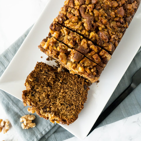 Banana Bread with Maple-Walnut Topping