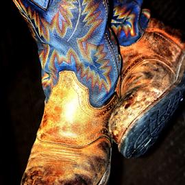 Work Boots by Noel Hankamer - Uncategorized All Uncategorized ( worn, work boots, truck driver, boots, shoes,  )