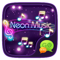 (FREE) GO SMS NEON MUSIC THEME For PC (Windows And Mac)