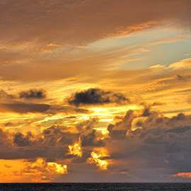 Solid Gold by Rick Blakeley - Landscapes Cloud Formations ( skyline, sunset, pacific ocean, cloudscape, seascape )