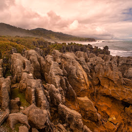 Pancake Rocks by Stanley P. - Landscapes Caves & Formations ( rocks, formation )
