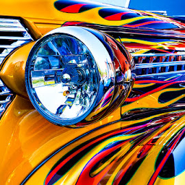 Hot Rod by Kevin Egan - Transportation Automobiles ( clifton car show, color, headlight, hot rod, close up, antique )