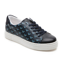 Armani Junior Logo Print Trainer HIGHTOP