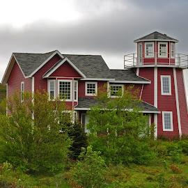 Unique Idea by Harold Bradley - Buildings & Architecture Homes ( hillside, home, unique, private home, color, lighthouse, desigh, house )