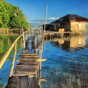 the way to the home by Alvin Lee Hahuly - Landscapes Waterscapes ( sawai )