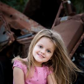 nelene by May Evelene Bester - Babies & Children Child Portraits ( pink, toddler, little girl, girl, rusted,  )