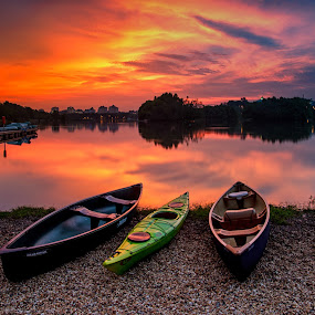 Waiting by Azri Suratmin - Landscapes Sunsets & Sunrises ( putrajaya, sunset, azri, wetland, azrisuratmin,  )