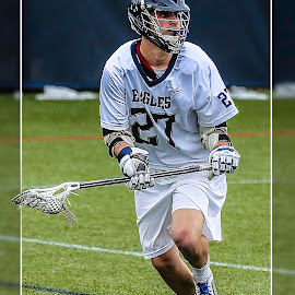 Mike Marson by Elk Baiter - Sports & Fitness Lacrosse ( university of mary washington, umw, midfielder, eagles, lacrosse )