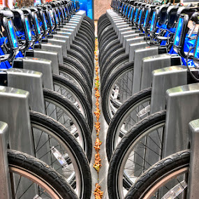 NY City Bikes 2 by Pictures that Pop - City,  Street & Park  Street Scenes (  )