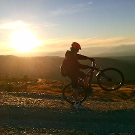 MTB  by Vladimir Tufekchiev - Instagram & Mobile Android ( kozuf, bike, mountain, android, sunset, mtb )