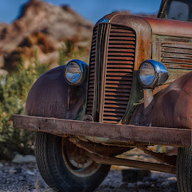 Dodge at Techatticup by Jose Matutina - Transportation Automobiles ( car, sonya7ii, desert, vintage, california, vehicle, dodge, techatticup, history, clark county, nevada, sel85f14gm, nelson, historical )