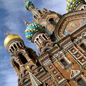 Church of Our Saviour on Spilled Blood by Leigh Thomson - Buildings & Architecture Places of Worship ( church. building, europe, st petersburg, orthodox, tourism, travel, architecture, domed, city, spilled blood, russia, russian, icons, cathedral, eastern, domes, our saviour, onion )