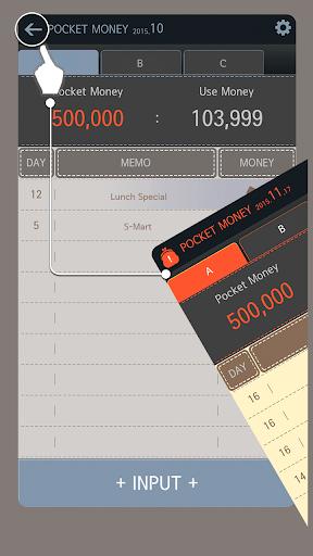 POCKET MONEY - Cash Book - screenshot