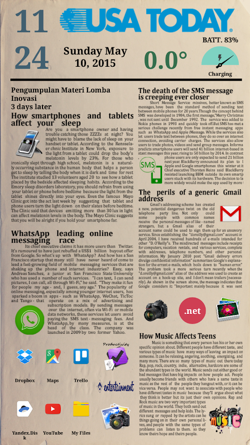 Newspaper 2 for Total Launcher Screenshot 0