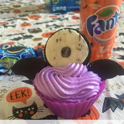 Purple People Eater Cupcakes {feat. OREO and Fanta}
