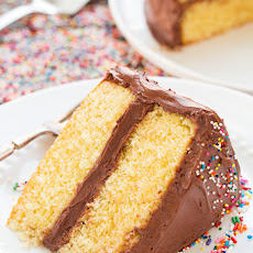 Yellow Cake with Chocolate Buttercream Frosting