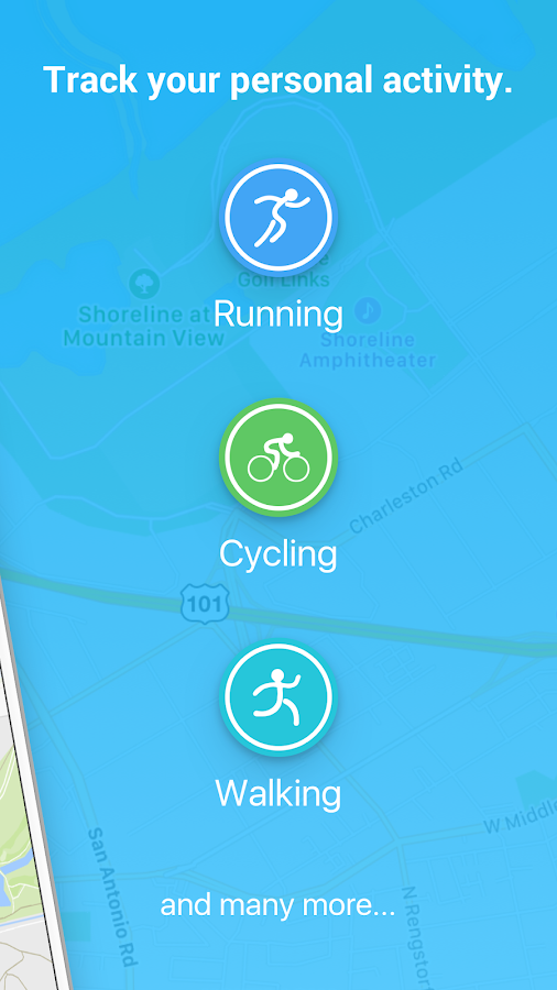 FITAPP Running Walking Cycling Fitness GPS Tracker Screenshot 1