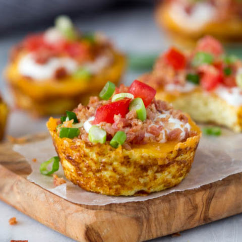 Faux Loaded Potato Skins { Low Carb}