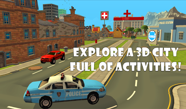Police Car Chase Sim 911 FREE APK screenshot thumbnail 4