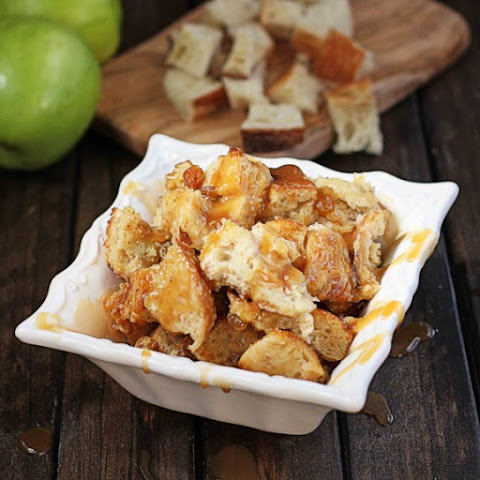 Boozy Caramel Apple Bread Pudding