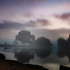 Misty morning by Mark Freeman - Landscapes Sunsets & Sunrises ( sunrise lake park water )
