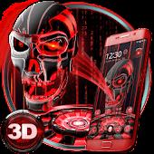 App 3D Tech Blood Skull Theme APK for Kindle