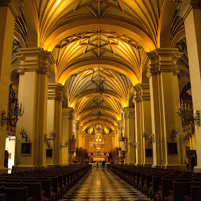 Inside a Church in Lima by Merina Tjen - Lim - Buildings & Architecture Places of Worship ( church; lima; peru; catholic; building )