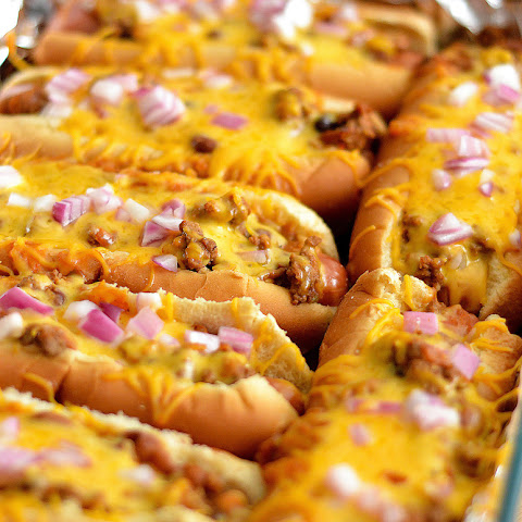 Oven Baked Chili Cheese Dogs
