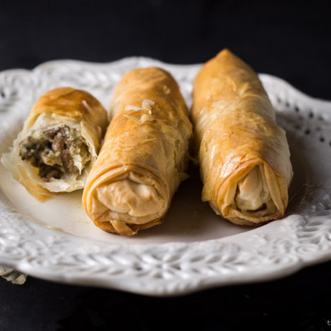 Phyllo Dough Meat Rolls