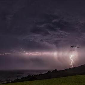 by Ian Mills - Landscapes Cloud Formations ( lightning, gerringong )