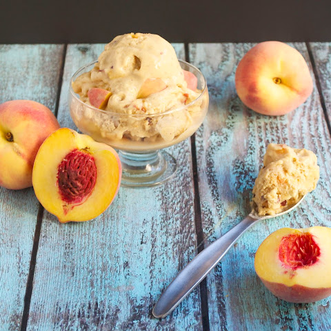 Vegan Peach Ice Cream