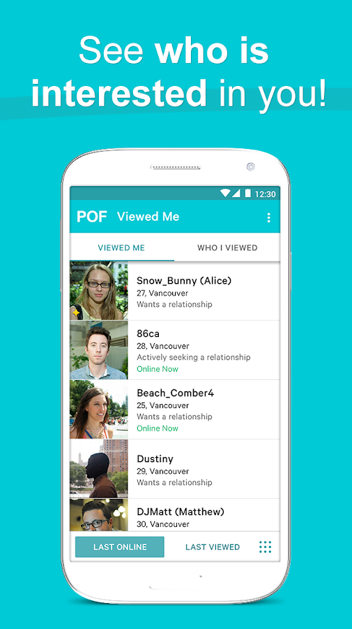 Pof dating app store