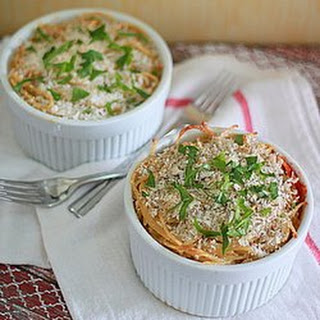Spaghetti Pot Pies with Spinach, Ricotta, & Optional Ground Beef