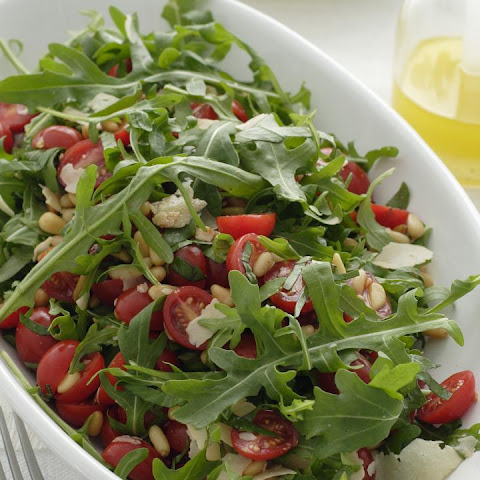 Tomato, Arugula and Pine Nut Salad