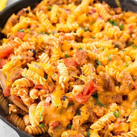 Vegetarian Cheeseburger Pasta