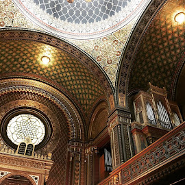 Inside the Spanish Synagogue - Prague, Czech Republic by Anita Louise - Buildings & Architecture Architectural Detail