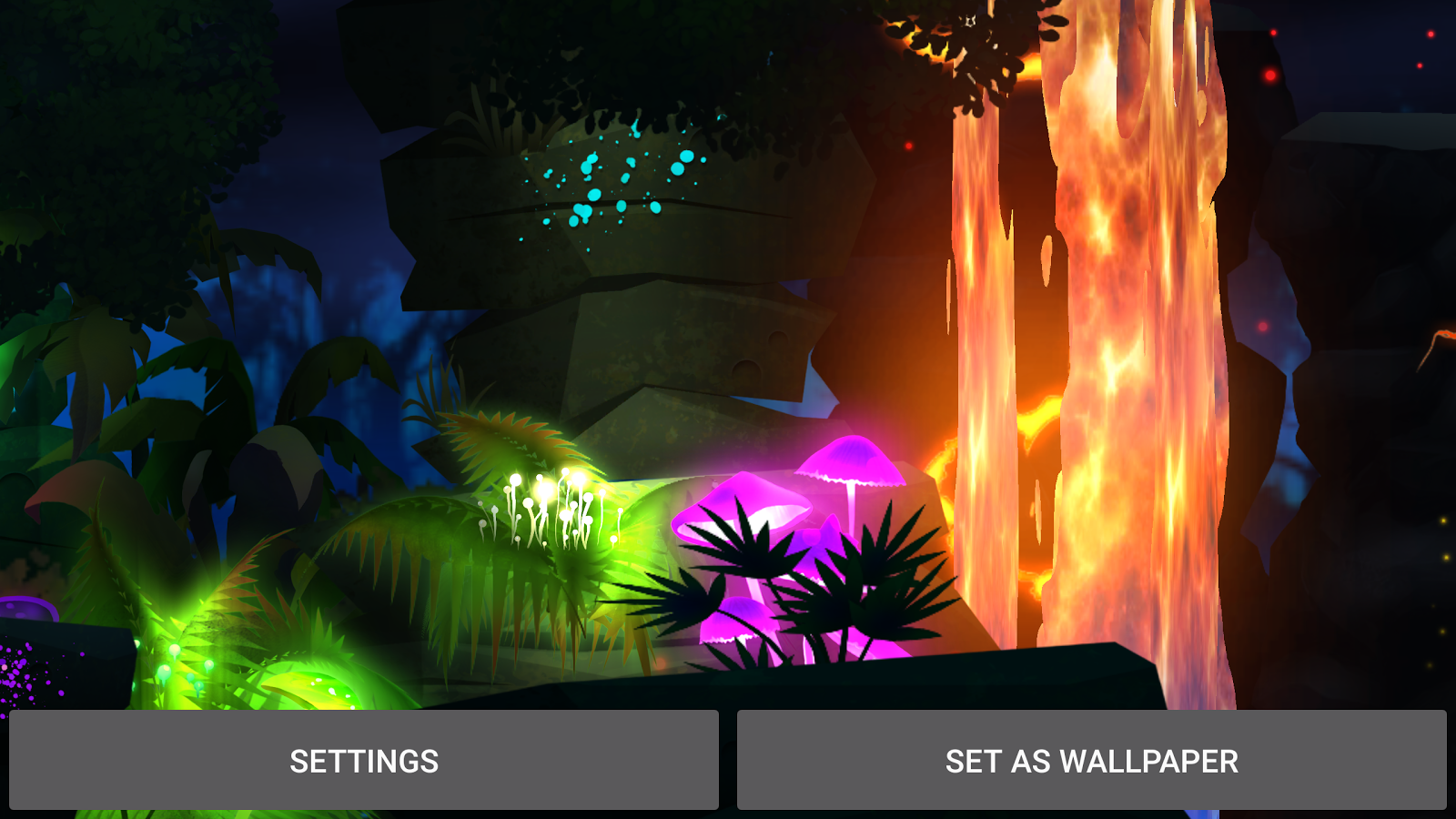 Firefly Jungle Live Wallpaper Screenshot 10