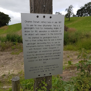 The location at which Charles Darwin first used a clinometer to measure the tilt of geological strata.Submitted by Alistair Wylie