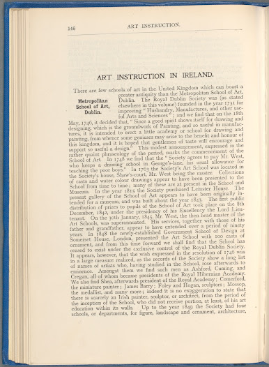 This official government handbook from 1902 outlined Ireland's chief economic resources. Alongside such sections as 'the geographical and physiographical features of the country', and the 'economic distribution of the population', it turns its attention to the provision for art education across Ireland.