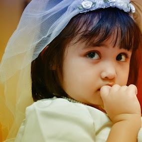 flowergirlcute by Syam Kiki - Babies & Children Child Portraits ( #baby_cute #girls_portraiture, baby, cute )