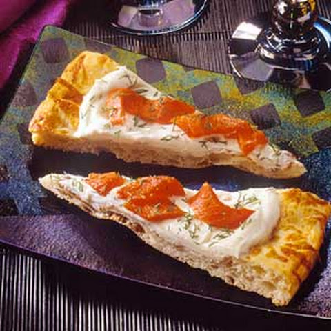 Smoked Salmon and Chevre Pizza