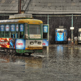 Tram in kolkata by Sudip Chowdhury - Transportation Other ( pwctransport, hdr, india, travel )
