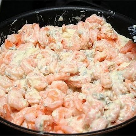 Shrimp with Garlic Cream Sauce