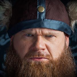 Angry Viking...  by John Cianfarani - People Portraits of Men