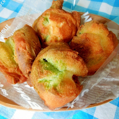 Sata Andagi (Okinawan Donuts) with Matcha and Tofu