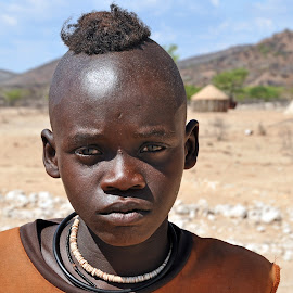 Young Himba at Epupa Falls in Namibia. by Lorraine Bettex - Babies & Children Child Portraits