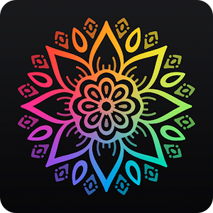 Coloring book 2017 with mandalas Icon